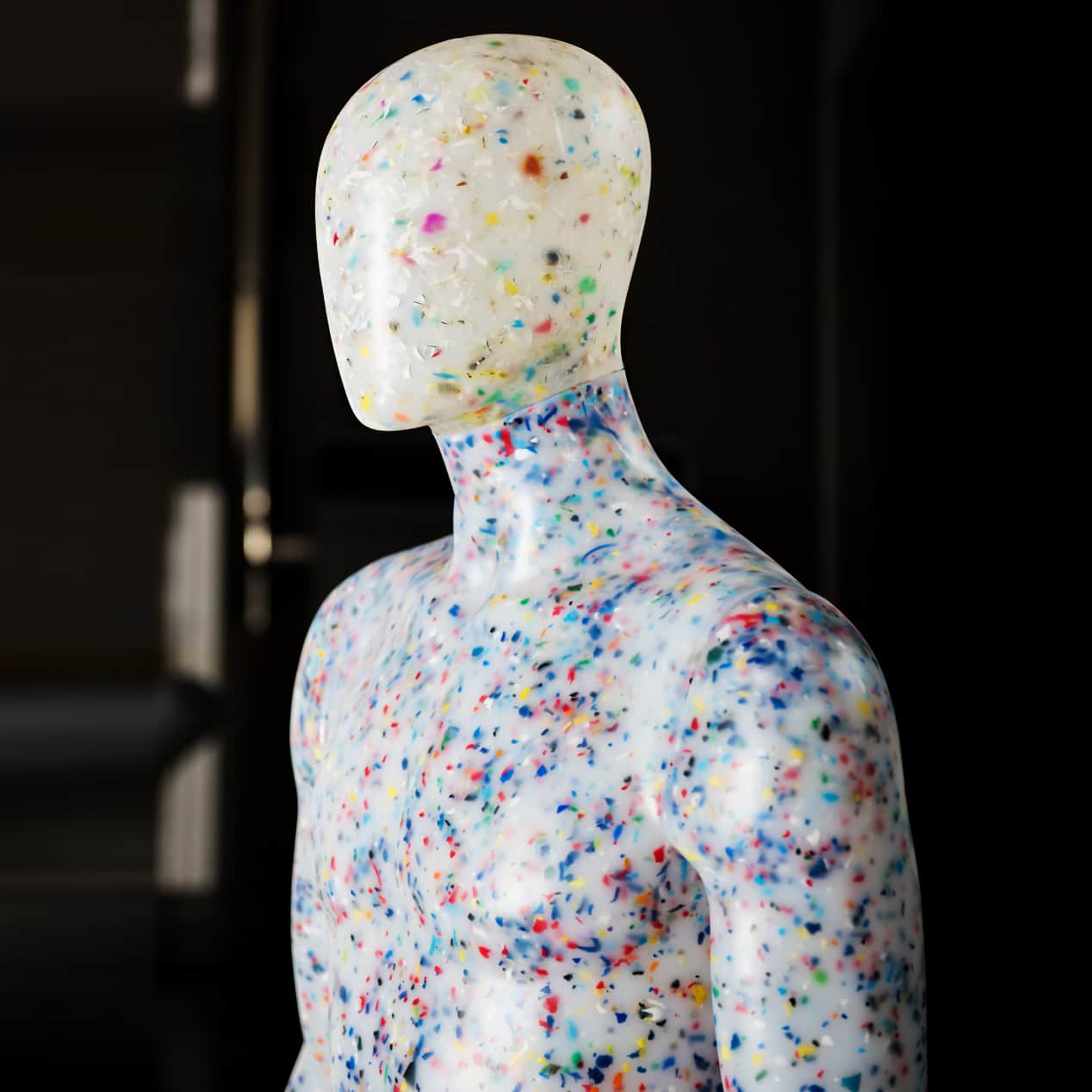 recycled mannequin plastic waste