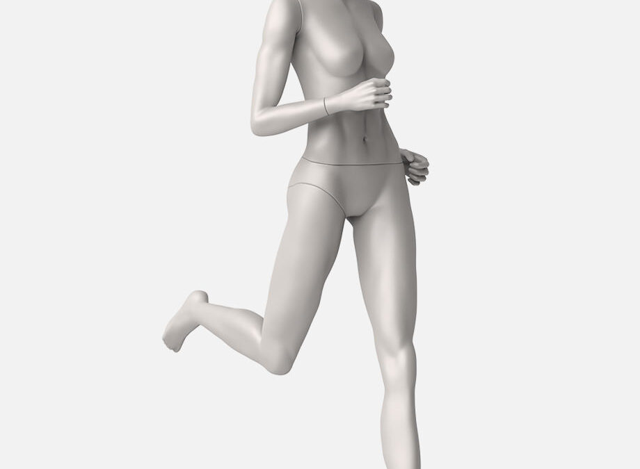 female running mannequin