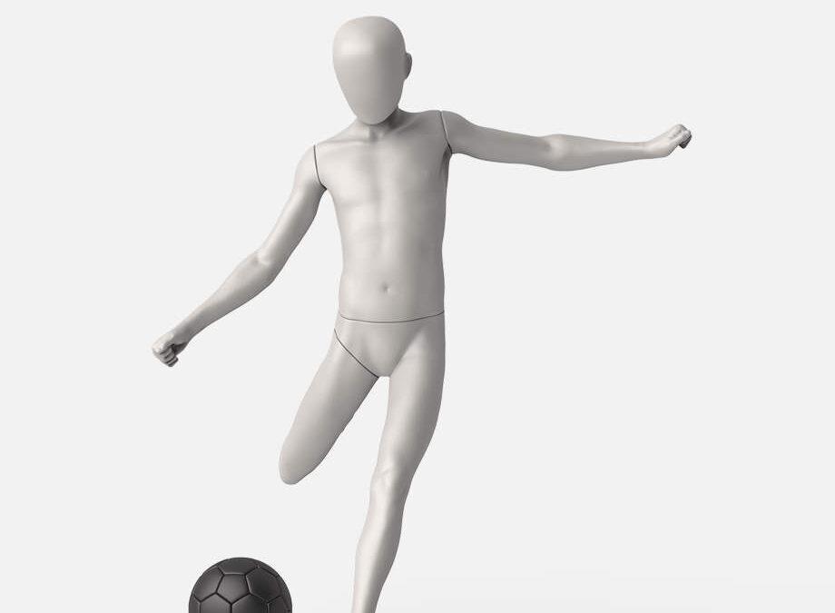 Football kid mannequin