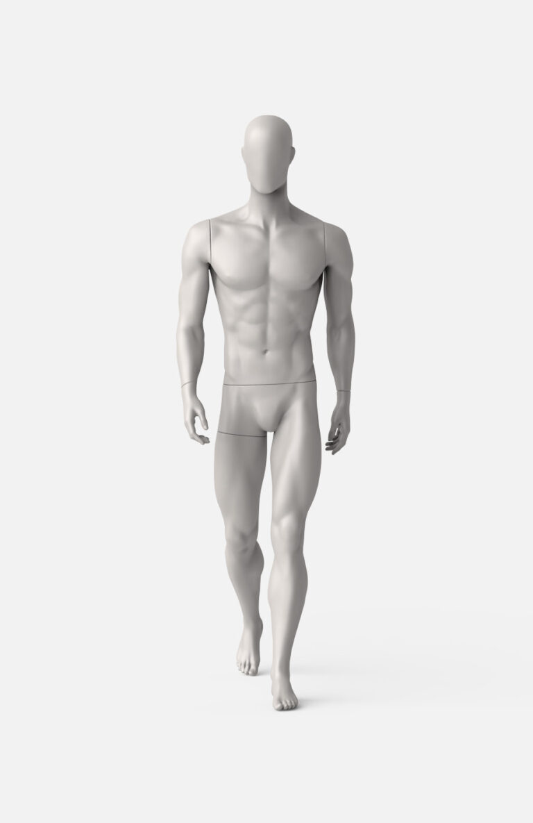 Male hiking mannequin