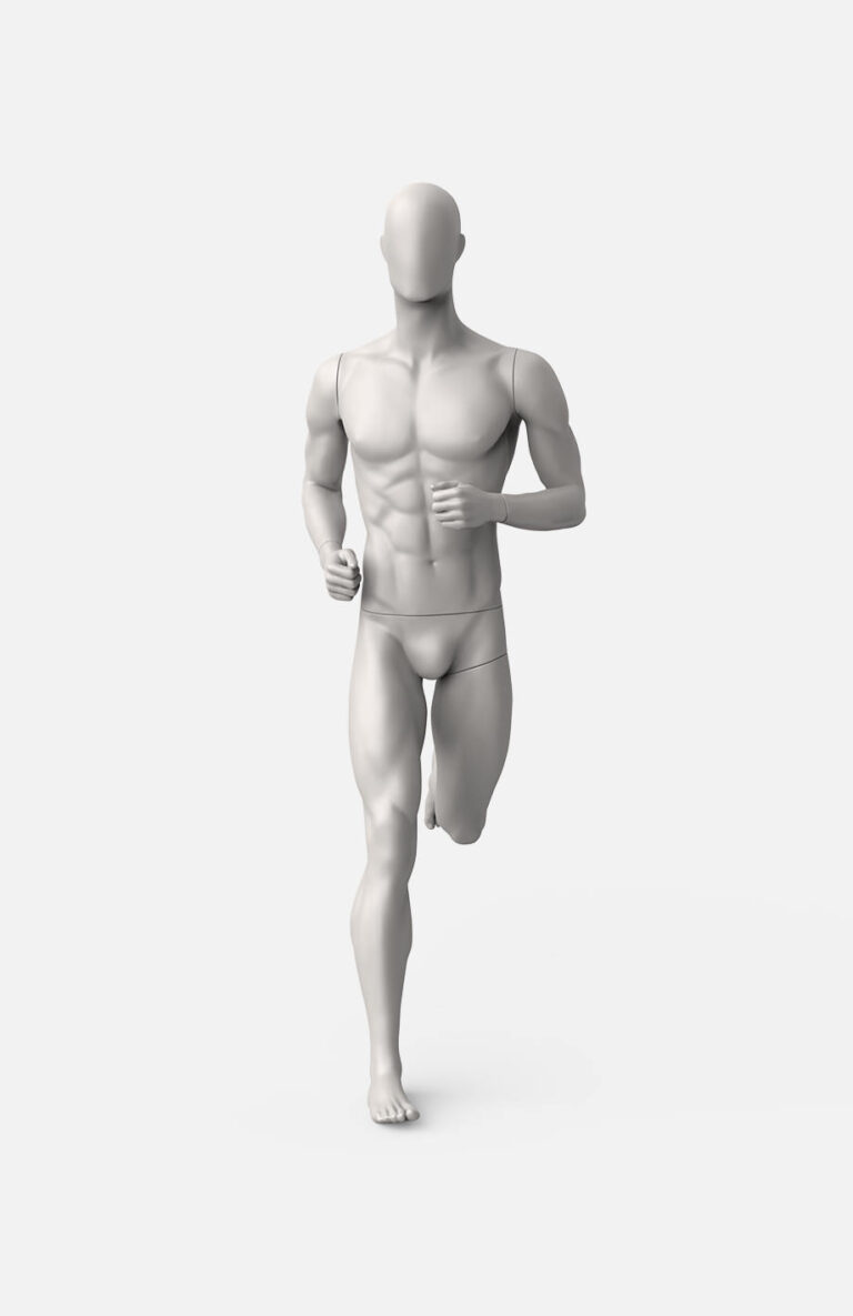 Male running mannequin