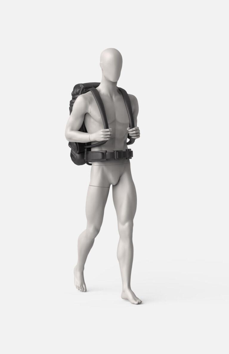 Male trekking/backpack mannequin