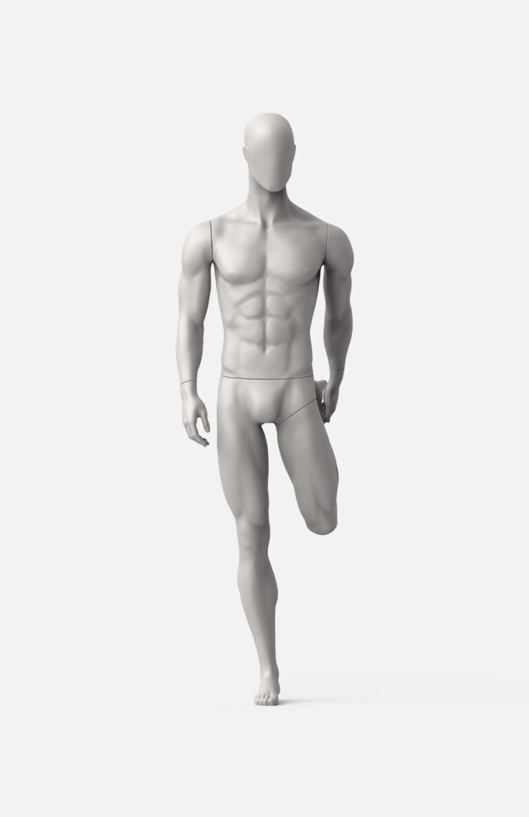 Male stretching mannequin