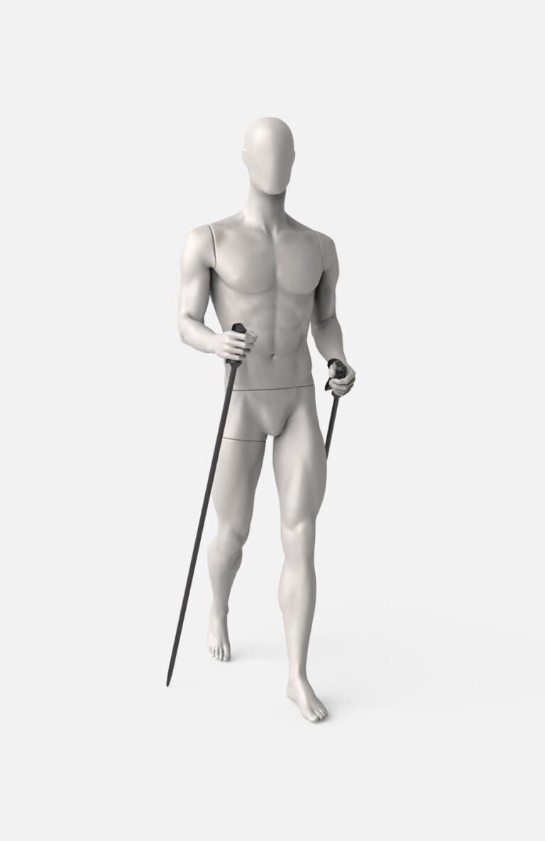 Male trekking mannequin