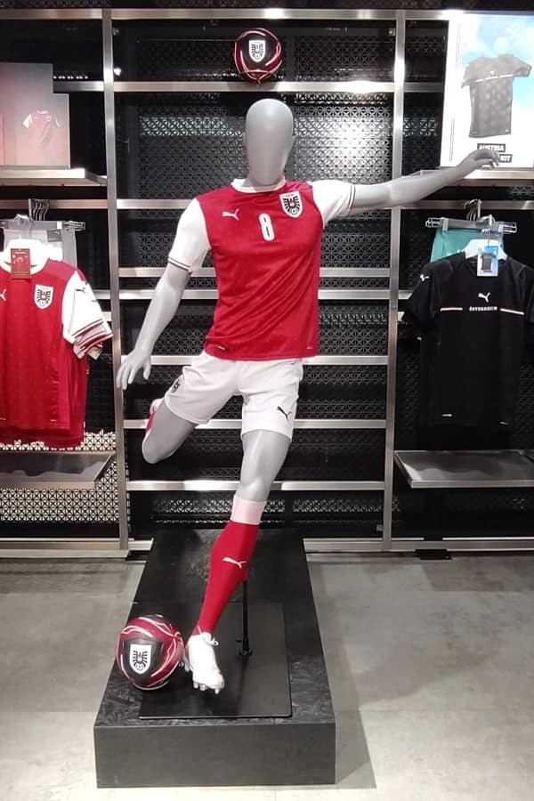 invictus football mannequin
