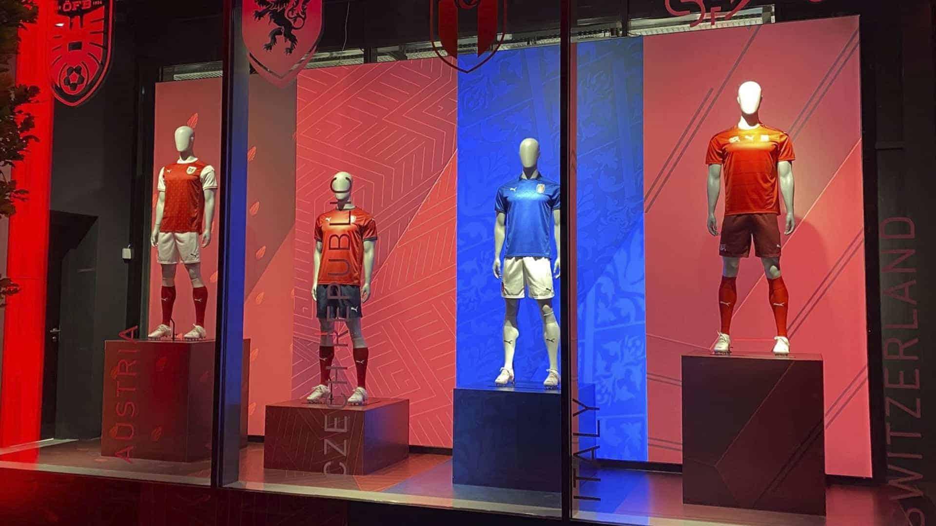 puma x sempere football mannequins